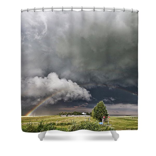 Beauty Within Darkness Shower Curtain