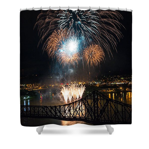 Beaver County Fireworks 2 Shower Curtain