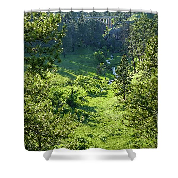 Beaver Creek In The Spring Shower Curtain