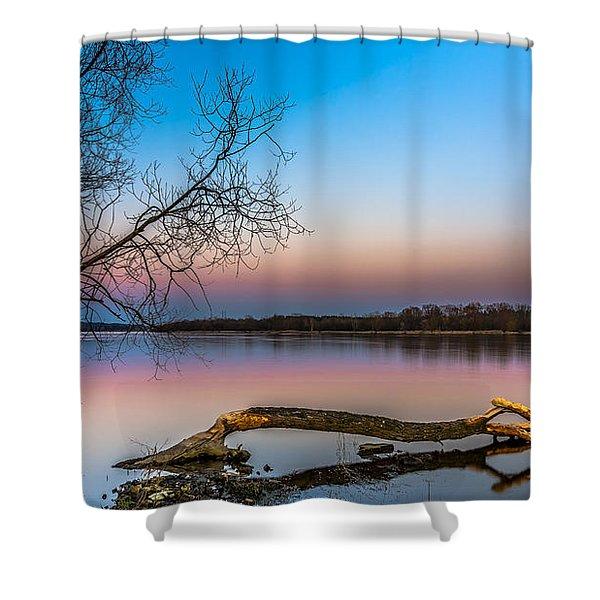 Beavers' Work Reflected Shower Curtain