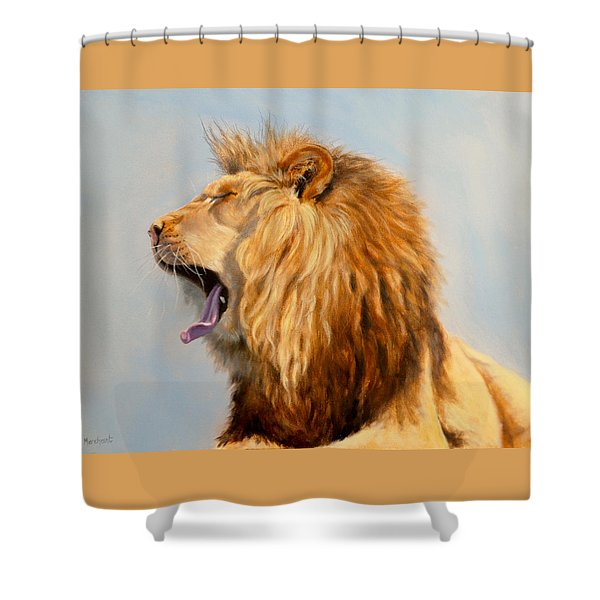 Bed Head - Lion Shower Curtain