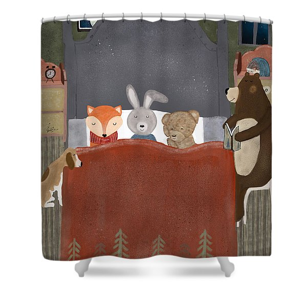 Bedtime Stories Shower Curtain