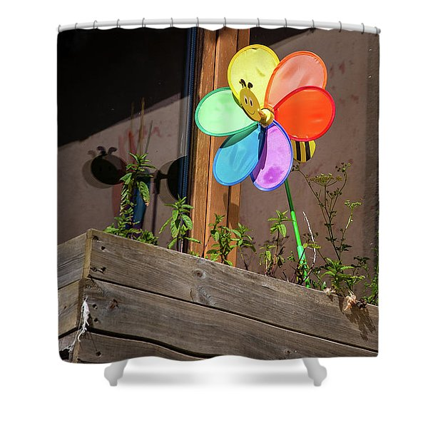 Bee A Wind Spinner? Shower Curtain