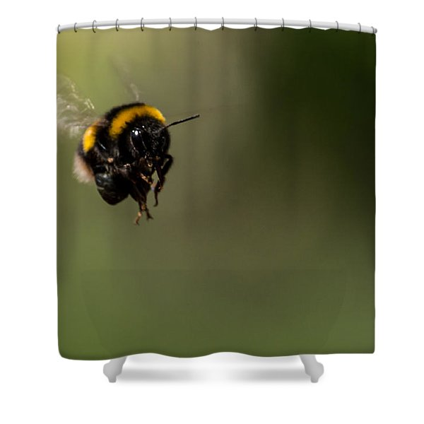 Bee Flying - View From Front Shower Curtain