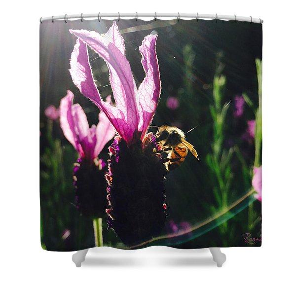 Bee Illuminated Shower Curtain
