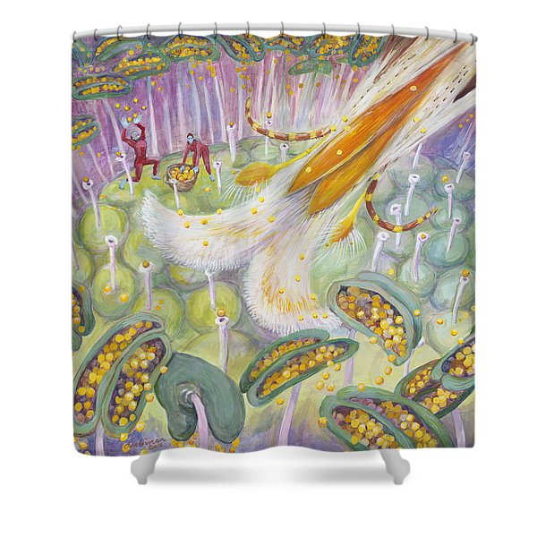 Bee's Tongue Shower Curtain