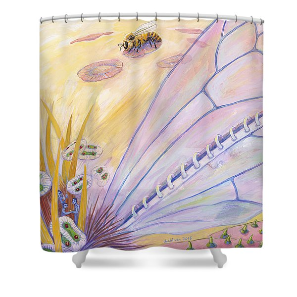 Bee's Wings Shower Curtain