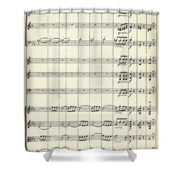 Beethoven 5th Symphony Shower Curtain