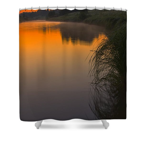 Before Sunrise On The River Shower Curtain