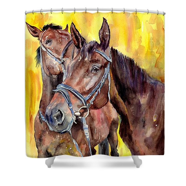 Before The Race Shower Curtain
