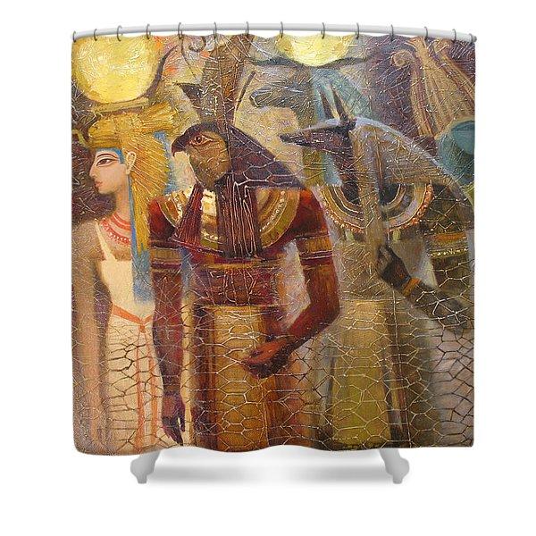 Beginnings. Gods Of Ancient Egypt Shower Curtain