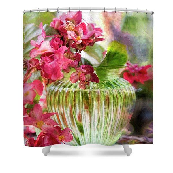 Begonia Art Shower Curtain