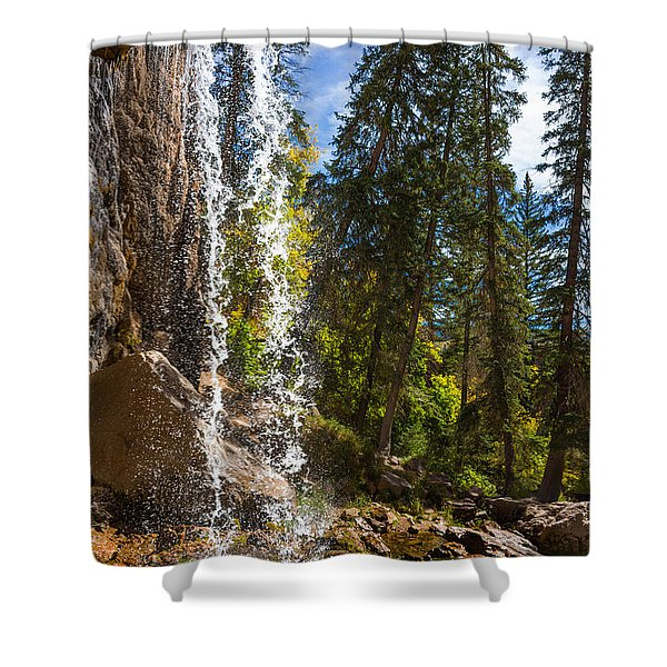 Behind Spouting Rock Waterfall - Hanging Lake - Glenwood Canyon Colorado Shower Curtain