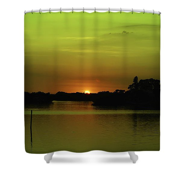 Behind The Horizon Shower Curtain