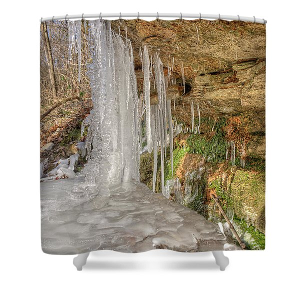 Behind The Ice Shower Curtain