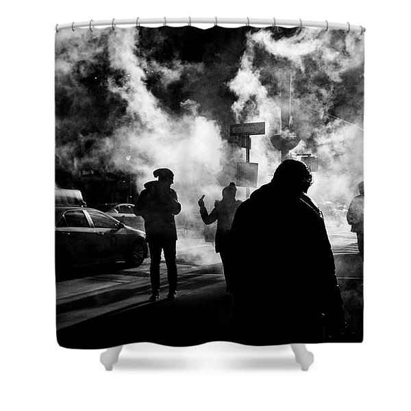 Behind The Smoke Shower Curtain