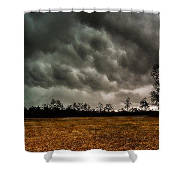 Behind The Tornado Shower Curtain