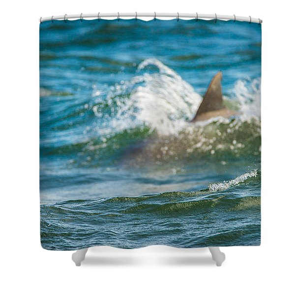 Behind The Wave Shower Curtain