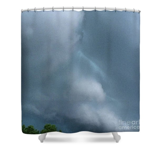 Behold He Cometh With Clouds Shower Curtain