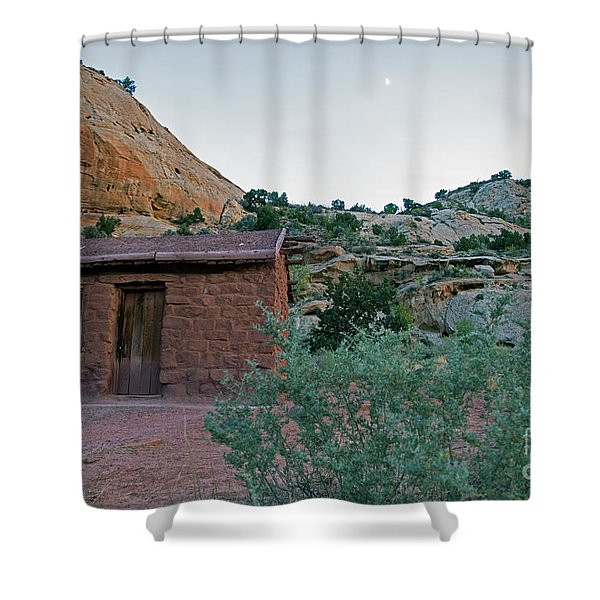 Behunin Cabin Capital Reef Shower Curtain