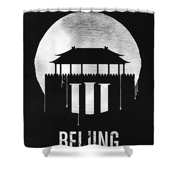 Beijing Landmark Black Shower Curtain