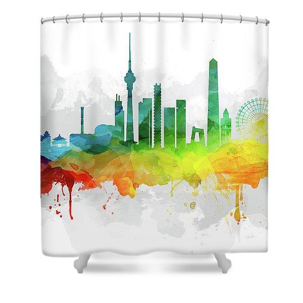 Beijing Skyline Mmr-chbj05 Shower Curtain