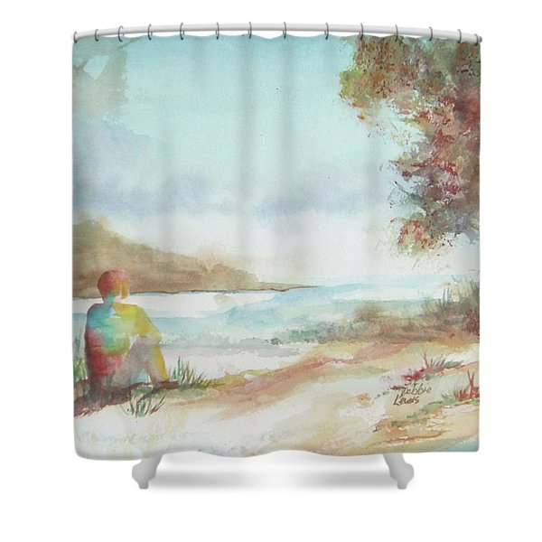 Being Here Shower Curtain