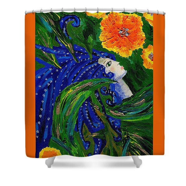 Being Of The Flowers Shower Curtain