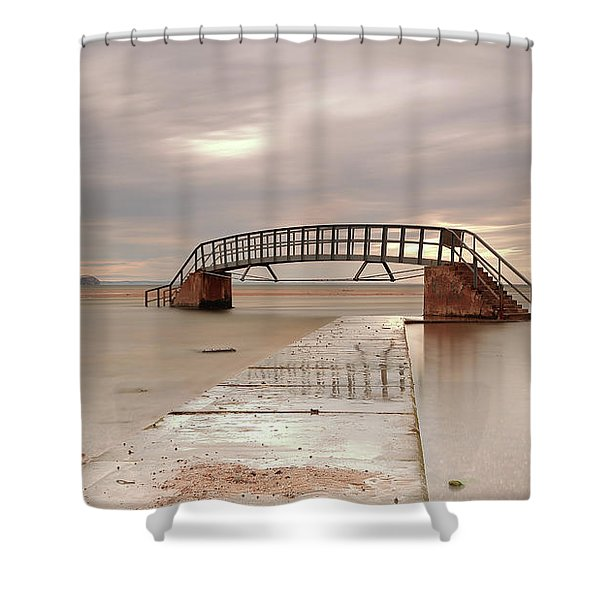 Belhaven Stairs And The Bass At Low Tide Shower Curtain