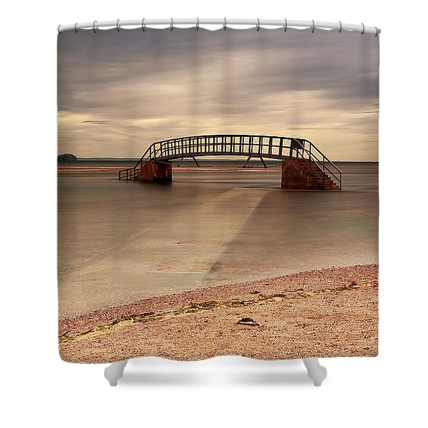 Belhaven Stairs And The Bass Shower Curtain
