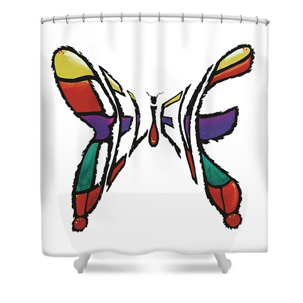 Believe-butterfly Shower Curtain