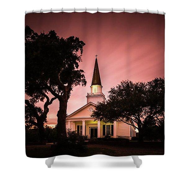 Belin Memorial Umc Sunset Shower Curtain