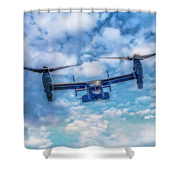 Bell Boeing V-22 Osprey  Shower Curtain