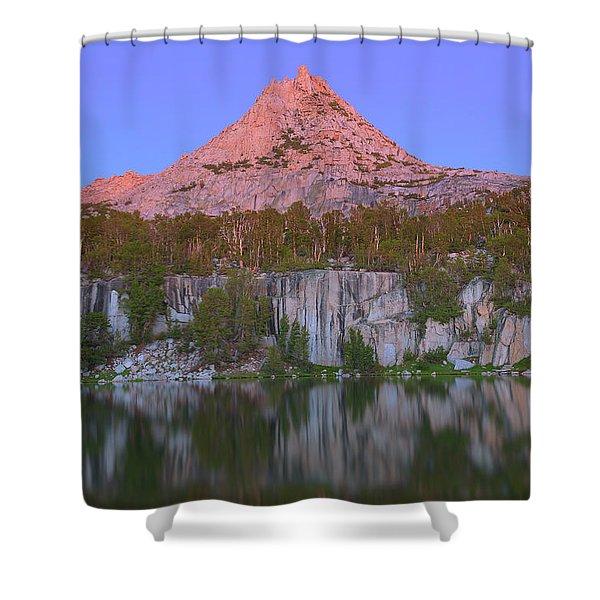 Bell Peak Alpenglow Shower Curtain