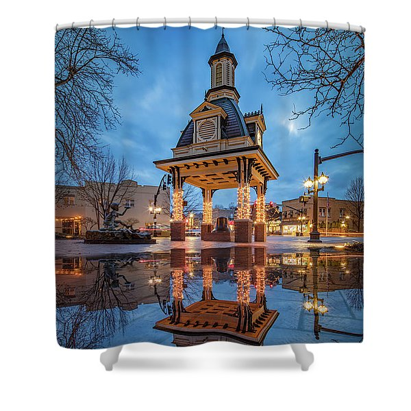 Bell Tower  In Beaver  Shower Curtain