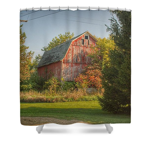 0028 - Belle River Red I Shower Curtain