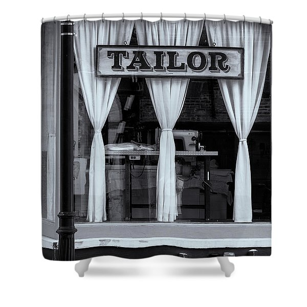 Shower Curtain featuring the photograph Bellows Falls Tailor by Tom Singleton