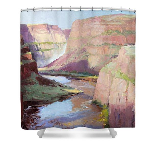 Below Palouse Falls Shower Curtain