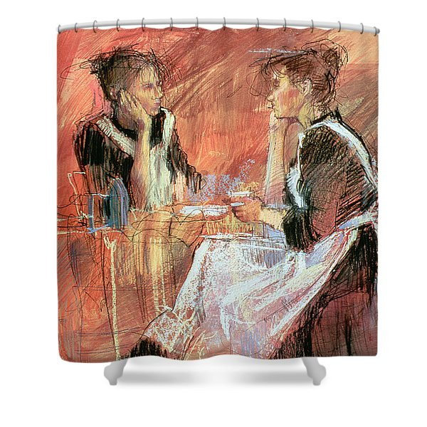 Below Stairs  Shower Curtain
