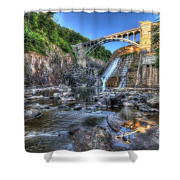 Below The Dam Shower Curtain