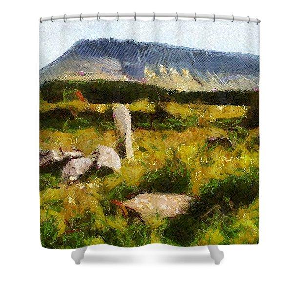 Benbulben Sligo Shower Curtain