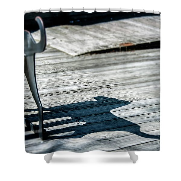 Bench Shadow Shower Curtain
