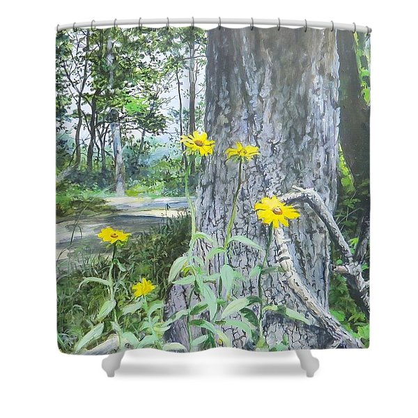 Bend In The Road Shower Curtain