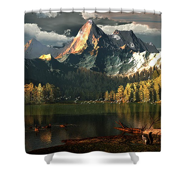 Beneath The Gilded Crowns Shower Curtain