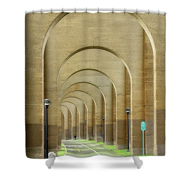 Beneath The Hellgate Shower Curtain
