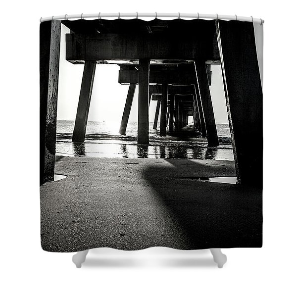 Beneath The Pier Shower Curtain
