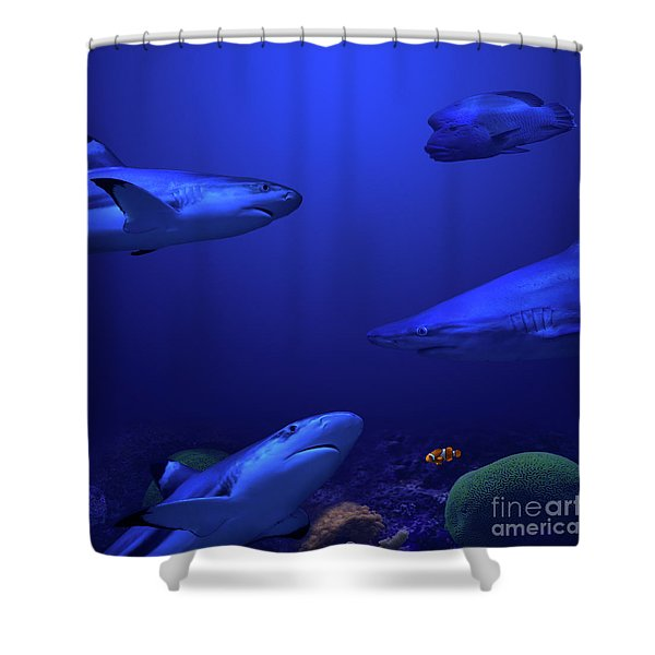 Shower Curtain featuring the photograph Beneath The Surface by Andrea Silies