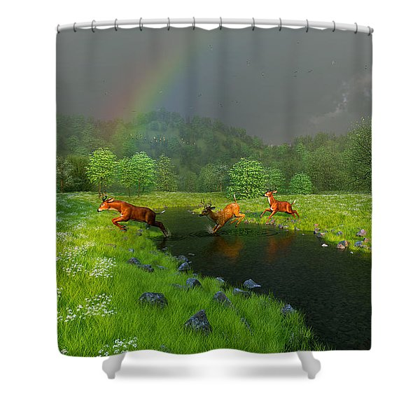 Beneath The Waning Mist Shower Curtain