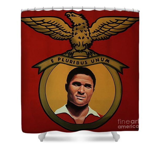 Benfica Lisbon Painting Shower Curtain