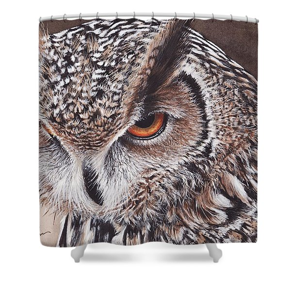 Bengal Eagle Owl Shower Curtain